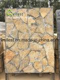 별장을%s 아름다운 자연적인 돌 베니어 판자벽