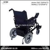 Cadeira de rodas elétrica de dobramento da potência para deficientes motores