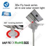 Indicatore luminoso di via solare Integrated diplomato IP65 della lampada del rivelatore di movimento con il comitato solare