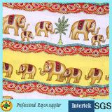 Tessuto di rayon stampato elefante caldo di vendita dalla fabbrica della tessile
