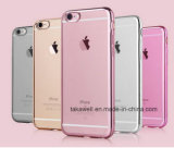Los accesorios móviles al por mayor de China borran el caucho cristalino que electrochapa la caja suave del teléfono celular de TPU para el caso del iPhone 6/6s