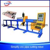 Machine de découpage de plasma de commande numérique par ordinateur Oxy de professionnel pour la pipe d'acier doux
