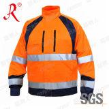 Высокая куртка /Workwear безопасности видимости (QF-564)