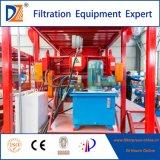Prensa de filtro de cámara hidráulica automática con bandeja de goteo