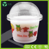 Устранимое Yogurt Milk Clear Plastic Round Cup с Dome Lid