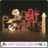 3D LED Zeichen/Zahl, die Zeichen Lights&#160 bekanntmacht;