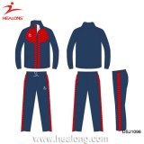 Venta al por mayor Hombre Custom Fitted Sportswear Plain Gym impermeable Tracksuit