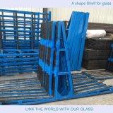 ガラスのための形Frame/Lの形の棚か起重機の棚はまたはガラスのための棚を運ぶ