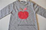 Lange Hülse gekopierte Knit-Pullover-Strickjacke für Kinder