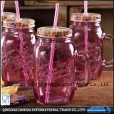 De kleurrijke Transparante Kruik van de Metselaar van de Kruik van het Glas voor Drank