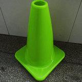 Cones da segurança de tráfego do PVC do verde de cal
