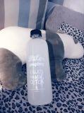 Leerer Glasbehälter, Glaswasser-Flasche, trinkende Glasflasche