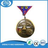 2017 passte grosse runde antike Decklack-Medaille mit Abzuglinie an
