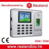 Realandの生物測定の指紋のタイムレコーダー