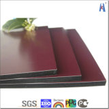 Panel compuesto de 3 mm 4 mm 5 mm de plata cepillo de aluminio Panel Sanwich aluminio