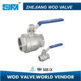 """Шариковый клапан Wod 2pcbv-10k польностью Port, 3/4 """" типов Кореи, 2 части, нержавеющая сталь Scs13 с голубой ручкой"""