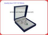 Коробка Jewerlry китайской фабрики OEM Jy-Jb052 голубая с прозрачным окном