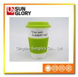 Reforçar a caneca da porcelana com caixa do silicone e a tampa de Lkb015