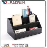Contenir la collection de rangement en bois Boîte à papeterie pour stylo à papier en bois avec papier en similicuir en cuir (YLS82)