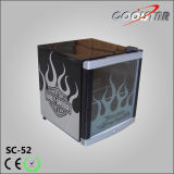 Petit réfrigérateur de refroidisseur d'étalage de boissons d'Everage (SC-52)