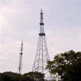 Galvanisierter Winkel-Stahlfernsehturm mit Antennenabstützung