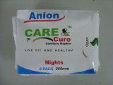 Anionen-weibliche gesundheitliche Serviette und Baumwollgesundheitliche Auflagen