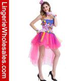 Конфета Halloween покрасила Costume представления Cosplay ночного клуба платья клоуна для женщин