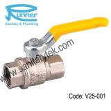 Robinet à tournant sphérique en laiton de gaz (V25-001)