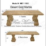 Banc et Tableau d'or de désert pour la décoration à la maison Mbt-1001