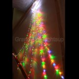 diodo emissor de luz Waterfall Lights de 2.4m Clear Wire Multi Colour