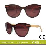 Neuer Entwurfs-handgemachte Azetat-Rahmen-, hölzerne und Bambussonnenbrillen (587-A)
