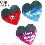 Clip plástico de la dimensión de una variable del corazón con potencia magnética