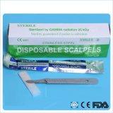 Lame chirurgicale stérile remplaçable de scalpel d'acier inoxydable de carbone (SC-SB001)