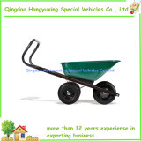 Carriola pratica del carrello di prato inglese del vagone del giardino con 3 rotelle