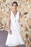 2015 vêtements de mode de femmes plissés par mousseline de soie de robe de soirée de mode