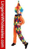 Costume Cosplay клоуна партии Halloween обмундирования цирка малышей