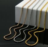 Oro/Siver Box Stainless Setel Chain per Fashion Necklace