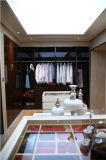 2016 Welbom Modern Cream Matte Lacquer Walk in Closet Wardrobe