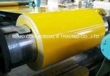 La bobina de acero galvanizada prepintada bobina de CGCC Ral5020 PPGI para el material de material para techos/prepintó las bobinas de acero de acero galvanizadas/de la hoja PPGI bobina de acero cubierta color