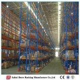 倉庫パレットラックシステム鉄は可動書だなの中国の製造者に棚に置く