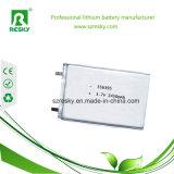 bateria do polímero do íon do lítio de 3.7V 2450mAh para a câmera