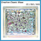 Claro y bloque de cristal coloreado para decorativo