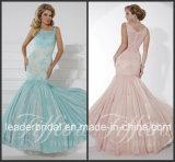 Rose Parti bleu robe de bal Robes dentelle robe de soirée P16100