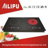 金属のシェル2のHotplate電気Cooktopの赤外線炊事道具が付いている誘導の炊事道具