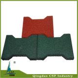 25mm Stärken-grüne Farben-Hundeknochen-Gummifliese für Pferd