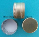 couvercles à visser en aluminium de 28mm dans la couleur d'or avec la doublure de PE