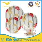 Piastrina di pranzo stabilita degli articoli per la tavola di plastica del padellame della melammina per uso domestico