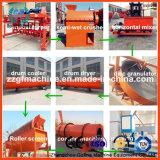 Processo da granulação do fertilizante do estrume dos rebanhos animais