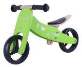 7 '' خشبيّة ميزان درّاجة 2 في 1 اللون الأخضر