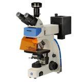 Microscopios biológicos de la fluorescencia de Trinocular Digital de la iluminación del LED (LF-302)